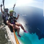 this photo is taked from a Tandem paragliding fly in Llogara Albania