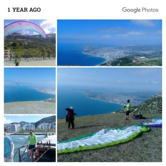 paragliding in albania